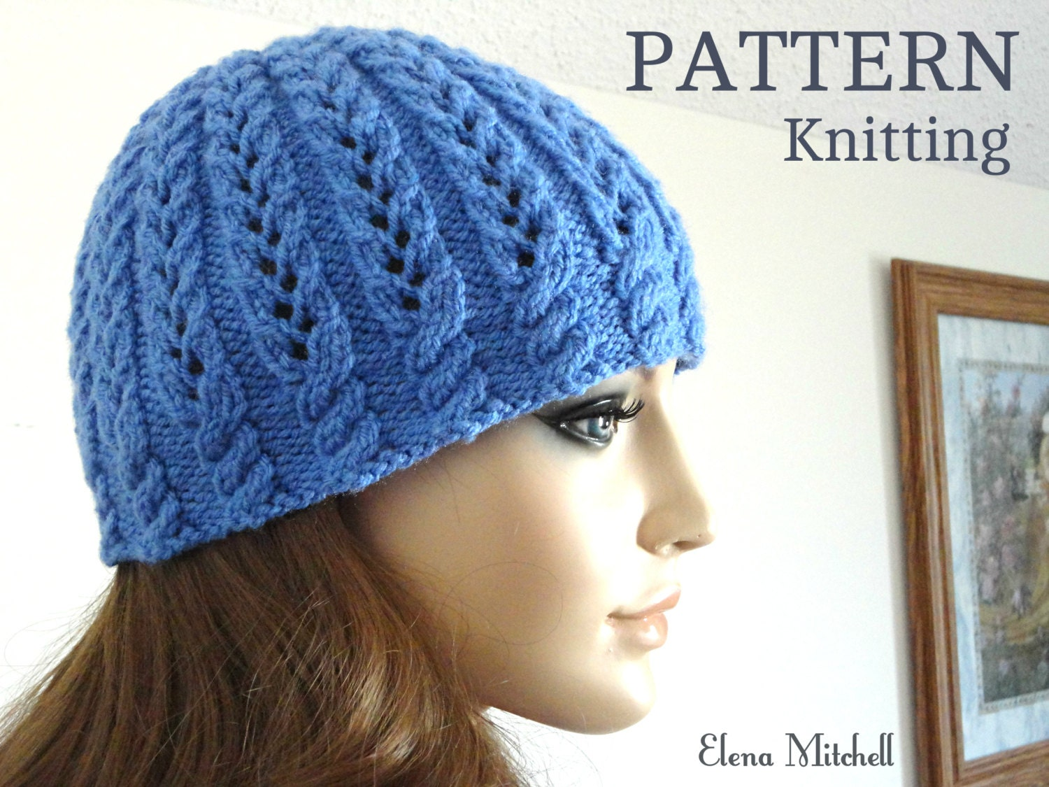 Knitting PATTERN Girls Beanie Women Hat Children Hat Knit