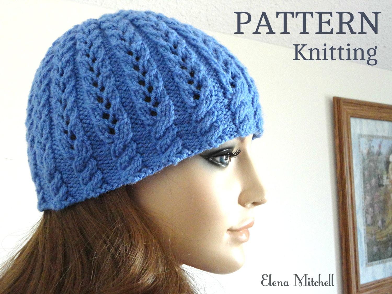 Beanie Hat Knitting Pattern : Knitting pattern girls beanie women hat children knit