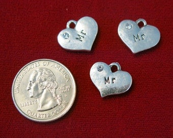 """BULK! 15pc """"Mr"""" charms in antique silver style (BC510B)"""