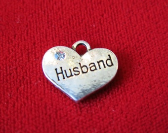 """BULK! 15pc """"Husband"""" charms in antique silver style (BC539B)"""