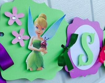 Tinker Bell Name Banner, Tinkerbell Pixie name banner, Tinkerbell Name Banner, Disney Tinkerbell Name banner