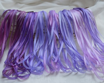 Lavender Border 4mm Silk Ribbon Collection