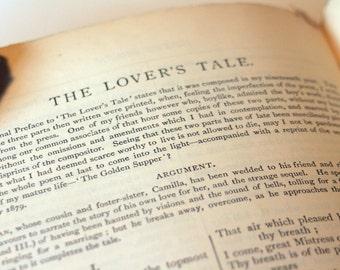 Works of Tennyson 1893 Poems Poetry Vintage Book Hardback old book gift