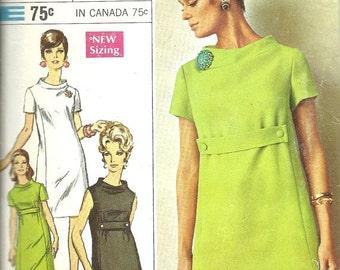 On Sale Simplicity 7425  Designer Dress   Size 8   C1967