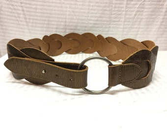 Bronze Leather Belt, Boho Belt, Small, Medium