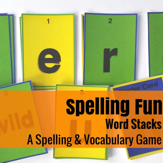 Word Stacks! (Fun with Spelling & Vocabulary)