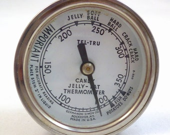 TEL-TRU THERMOMETER for Candy/Jelly-Fat Working Germanow-Simon Co. Tel-Tru Candy/Jelly-Fat Thermometer Tel-Tru Thermometer Candy/Jelly-Fat
