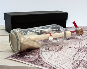Luxury Message In A Bottle - Nostalgia - Romantic Gift - Valentine's Gift - Secret Message - Personalised - Gift For Boyfriend - Husband