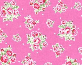 Sale - Lecien Flower Sugar Spring 2015, Rose Bouquets on Pink with Flowers, Japanese Fabric 31129 20