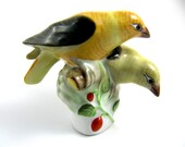 HEREND Hungarian Hand-Painted Porcelain Pair of Birds Figurine No. 5101 – RARE!