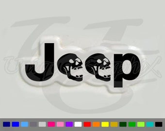 Jeep Wrangler skull side fender Decal Sticker 1 pair