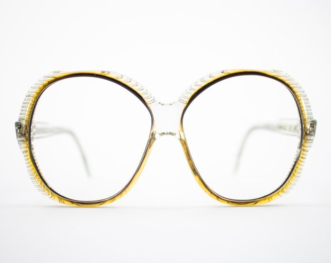 Vintage 70s Glasses | Clear 1970s Oversized Round Eyeglasses | NOS Eyeglass Frame | Deadstock Vintage Eyewear - Torino 1