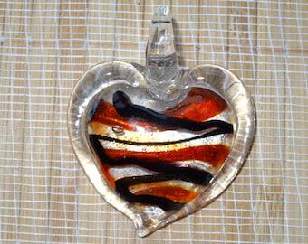 Lampwork Heart Pendant Bead