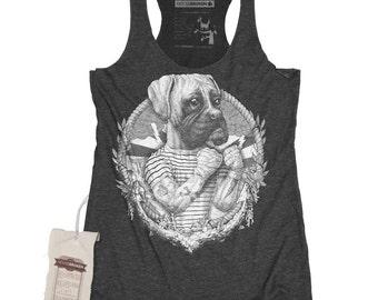 Boxer Dog Shirt - Women's Sailor Art Shirt Tank Top