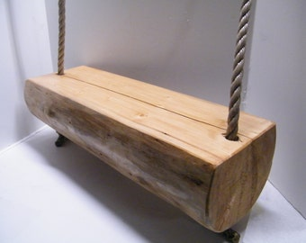 Log Swing,Tree Swing, Wood Swing, Porch Swing