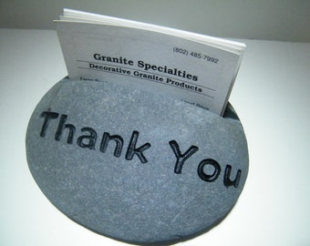 Motivational Gift/Employee Recognition /Business Card Holder/ Stone Card Holders