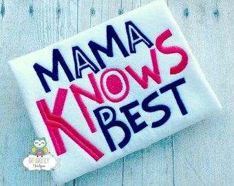 Mama Knows Best Shirt or Bodysuit, Mothers Day, Mama's Boy, I Love Mom Shirt, First Mothers Day, Mommy's Boy, Mother Day Shirt, Mommy's Girl