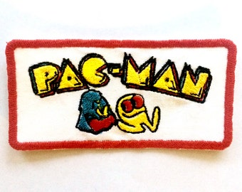 Pac-Man Vintage Inspired Embroidered Iron-On Patch
