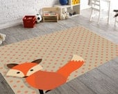 Rugs, Kids Rugs, Animal Rug, Rugs For Nursery, Nursery Rug, Kids Bedroom Decor, Children Gift, Playroom Rug, Squirrel Gifts, Childrens Rugs