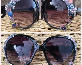 Flying Elephant Embellished Sunglasses