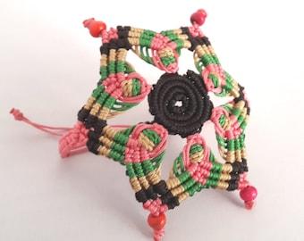 Mandala Bracelet, Macrame Bracelet, Macrame Mandala, Adjustable Bracelet, Multi Color Bracelet