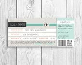 LDS Evening of Excellence boarding pass invitation, New Beginnings - 2016  YW theme Press forward with a steadfastness in Christ