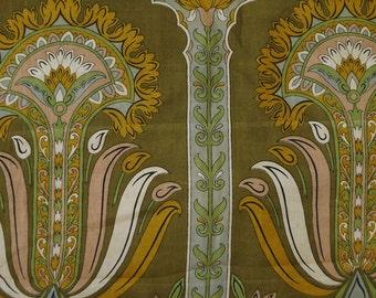Green Floral Dress Vintage Clothing Pure Silk Sari Recycle Traditional Indian Wrap 5Yard Printed Drape Fabric Vintage Saree PS34241