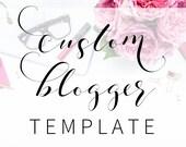 Custom Blogger Template | Feminine Custom Blog Design | Custom Blog Template | Blogspot Blog Design