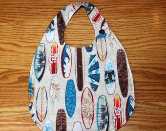 Large Surfer Dude Bib