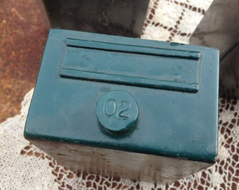 Industrial metal parts drawer trinket box SOHO upcycle DIY