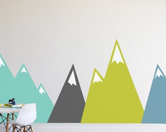 Wall Decal - Moving Mountains-  Wall Sticker - Room Decor - Wall Decor