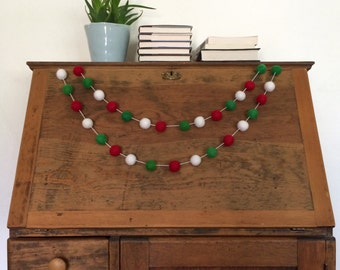 Bright Christmas Felt Ball Garland