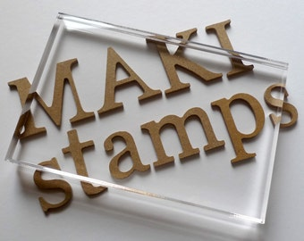 Acrylic Block size 2 = 100x150mm to use with EZ mounted Rubber stamps or Cling Stamps