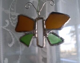 Sea Glass Butterfly Sun Catcher