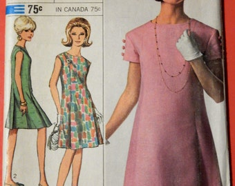 Vintage dress pattern Simplicity 6960 Designer Fashion princess seamed dress pattern Uncut Size 14