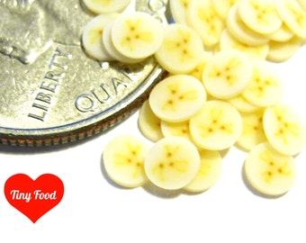 FLASH SALE Dollhouse Banana Fruit Slices 30pcs v2