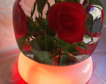Lamp with roses from the 50ish