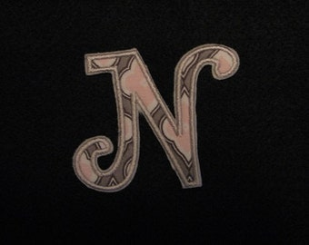 Letter N Embroidery Etsy