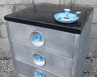 Industrial Drawers Kitchen Cabinet Enamel Metal Cupboard