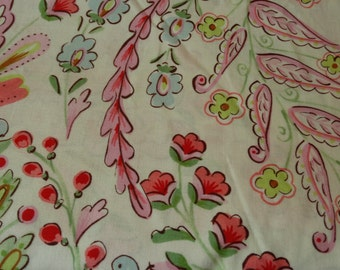 Pretty  Little Thing Dena Floral Cream Cotton Fabric By The Yard