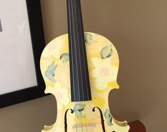 "Hand-painted violin -- ""Summer Adagio"""