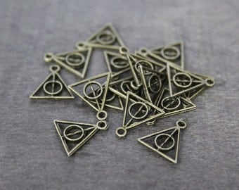 Harry potter charms silver/bronze (12 pcs) 13 x 12 mm