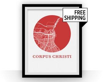 Corpus Christi Map Print - City Map Poster