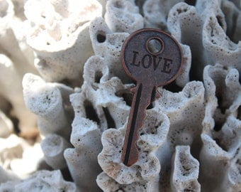 "Brass Toned Key ""LOVE""  Almost Sold Out Of This One!!"