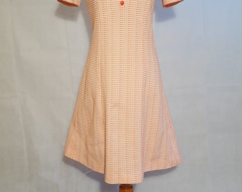 60s pink mod dress s/m