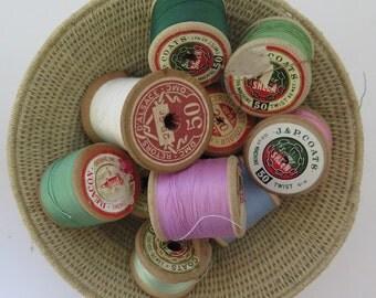 Cotton Thread//Cotton Reels//Vintage Cotton Reels