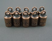 5MM End Cap, TEN Copper Caps for Leather or Cord (CAP5-005)
