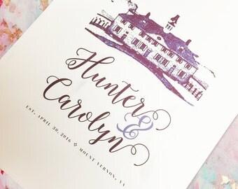 Custom Destination Wedding Print