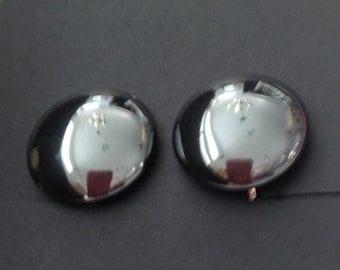 Vintage Hematite Clip-on Earrings