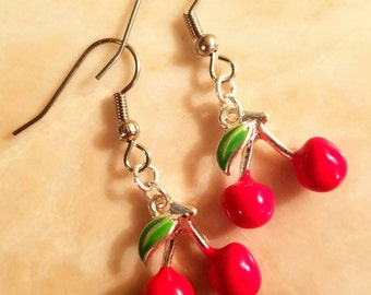 Cherry Stainless Steel Earrings
